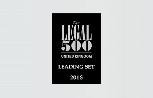 Dere Street are delighted to have been recommended as a leading set in this year's Legal 500 directory,  13 members of Chambers, across all disciplines, including 3 Queen's Counsel  have been  recommended.