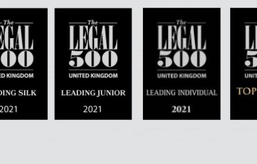Dere Street Barristers – The Legal 500 Directory 2021 recommendations.